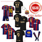 2020 / 21 Barcelona Messi Suarez Griezmann Pigue Kids Jersey  Age 5-13 Yrs NEW