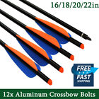 Aluminum Arrows Crossbow Bolts Archery Outdoor Target Hunting 16/18/20/22inch