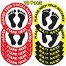 More images of Social Distancing Floor Decals - 10 Round Stickers - 10 Pack Safety Floor Signs