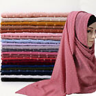 Fashion Chiffon Hijab Scarf Long Shawls Wraps Female Muslim Scarves Hijab Turban