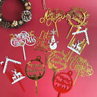 Merry Christmas Acrylic Cake Topper Cupcake Topper For Xmas Cake Decorations Us