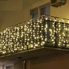 LED Curtain Light Christmas Garland Icicle Party Decor 2m 3m 4m 5m 10m X 2m