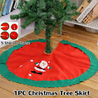 Red Home Decor Santa Claus Snowman Tree Skirt Christmas Tree Decoration Supplies