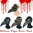 Halloween Scary Plague Doctor Mask Birds Mouth Beak Faux Latex Steampunk 2020 US