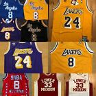 #8 & #24 Kobe Bryant Los Angeles L.A. Lakers Men's Vintage Throwback Sewn Jersey
