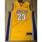 NWT #23 Lebron James Men's Los Angeles Lakers Yellow Jersey