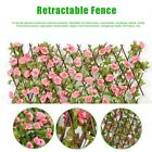 Artificial Rose Flower Leaf Hedge Mat Fence Fake Plant Grass Wall Garden Panels