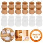 16 pcs Silicone Chair Leg Caps Feet Cover Pads Furniture Table Floor Protection