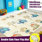 3 Sizes Double Sides Baby Crawling Thick Play Cover Mat Folding Rug Floor SU