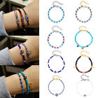 Handmade Evil Eyes Lucky Beads Charms Bracelet Bangle Braided Women Jewelry New
