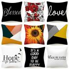 """18x18"""" Throw Pillow Cover White Black Double-sided Decorative Sofa Cushion Case"""