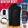 More images of Electric Vest Heated Jacket USB Warm Up Heating Pad Winter Body Warmer Cloth UK