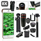 All In 1 Phone Camera Lens 8X/12X Telescope Monocular Selfie Stick Tripod SL