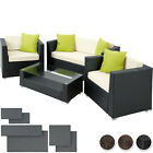 Luxury Rattan Aluminium Garden Furniture Sofa Set Outdoor Wicker New