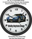 1965 Shelby Daytona Coupe Wall Clock-Ford, Corvette, GT, GT40