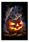 Anne Stokes Halloween Trick Or Treat Poster MAGNETIC NOTICE BOARD Inc Magnets