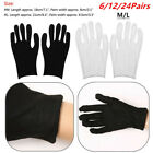 12 Pairs Soft Cotton Thin Working Gloves Mittens For Coin Jewelry Inspection M/L