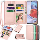 For Lg Stylo 6 Phone Case Wallet Leather Folio Flip Stand Strap Card Cases Cover