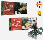 50Fairy lights 3.8m cable length battery operated warm white and multi coloured