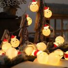 Christmas Party Snowman LED String Fairy Lights Santa Snowflake Lamp Xmas Decor