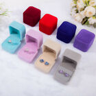 Squre Wedding Velvet Earrings Ring Box Jewelry Display Case Gift Boxes