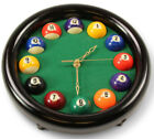 Novelty Billiard Table Clock, Round Pool Ball Clocks or Triangular Pool Clock