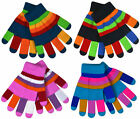 Kids Magic Gloves With Lining Boys Girls Thick Warm Stripe Christmas Winter New