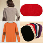 1 Pair Diy Sewing Repair Applique Elbow Knee Suede Oval Iron-on  Fabric Patch