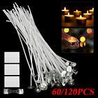 60/120 PCS 8 Inch Candle Wicks Pre-Waxed Wick For Cotton Core Candles DIY Making