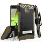 For Samsung Galaxy J7 Star/Crown/V 2018 Case Metal Stand Holster +Tempered Glass