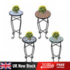 Small Garden Balcony Side Table Plant Stand Bistro Round Mosaic Vintage New Uk