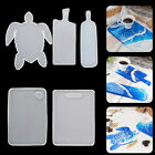 Casting DIY Crafts Silicone Molds Serving Board Coaster Mould Resin Tray Mold