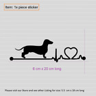 Dachshund Heartbeat Sticker For Car Glass Window Laptop Animals Dog Decal