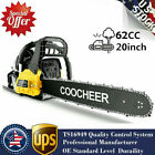 COOCHEER 62CC 20 Gas Chainsaw Handed Petrol Chain Woodcutting 2 Cycle 4HP e 239