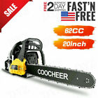 COOCHEER 62CC 20 Gas Chainsaw Handed Petrol Chain Woodcutting 2 Cycle 4HP e 241