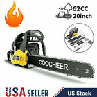 COOCHEER 62CC 20 Gas Chainsaw Handed Petrol Chain Woodcutting 2 Cycle 4HP e 243