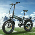 20INCH 500W Folding Electric Bike Fat Tire Mountain Bicycle 12.5Ah Snow b e 05