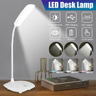 LED Desk Lamp Reading Light Table Dimmable Flexible Rechargeable Touch Control