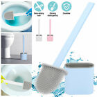Silicone Toilet Brush with Toilet Gap Brush Holder Creative Cleaning Brush Set