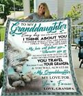Wolf grandpa to my granddaughter my love for you is forever soft fleece blanket