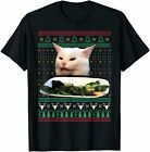 Woman Yelling at a Cat Ugly Christmas Sweater Meme Costume T-Shirt Birthday Gift
