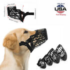Pet Dog Adjustable Bark Bite Mesh Mouth Muzzle Cover NoBarking Anti Stop Chewing