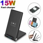 US 15W Qi Wireless Charger Charging Dock Pad Stand For iPhone 12 12Pro 11 XS XR