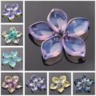 10pcs 19x13mm Crystal Glass Petal Loose Pendant Beads for Jewellery Making