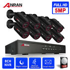 ANRAN 5MP HD Wired/Wireless Security Camera System CCTV 8CH NVR 2TB HDD Outdoor