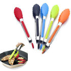Set of 3 7'' 9'' 13'' Silicone Kitchen Tongs Stainless Steel BBQ Cooking Gadgets