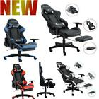 Ergonomic Office Gaming Chair Recliner Computer PU Leather Footrest Swivel Seat