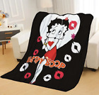 Betty Boop Fleece Blanket For Beds Soft