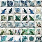 Cushion Cover Teal Blue White Soft Home Decor Abstract Throw Pillow Case 18x18