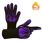 1 PAIR Cooking Oven Gloves Silicone Grill BBQ Mitts 1472℉ Extreme Heat Resistant
